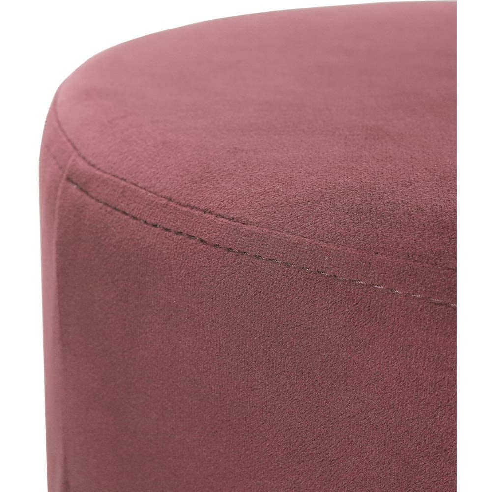 Pink velvet ottoman dressing table  stool