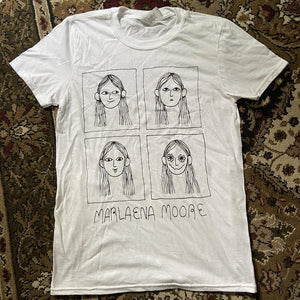Marlaena Moore | Faces Unisex Tee | White