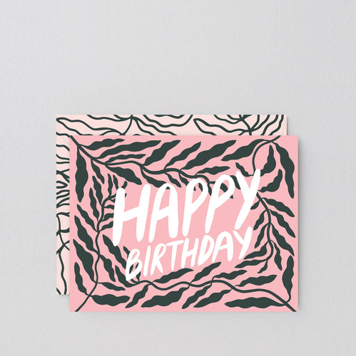 WRAP | Birthday Leaves Greeting Card