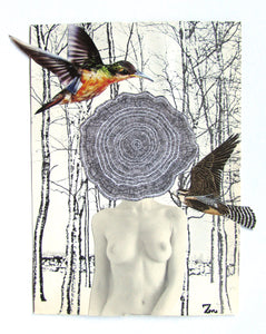 Zeph Mind | Collage Art Print | Cookie Woman