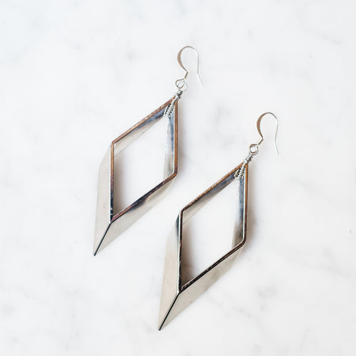 Epic Diamond Earrings | Silver Edition
