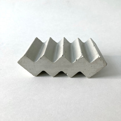 Grey Shed | Zig Zag Concrete Soap Tray | Natural