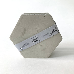 Grey Shed | Hex Concrete Coaster Set of 4 | Natural