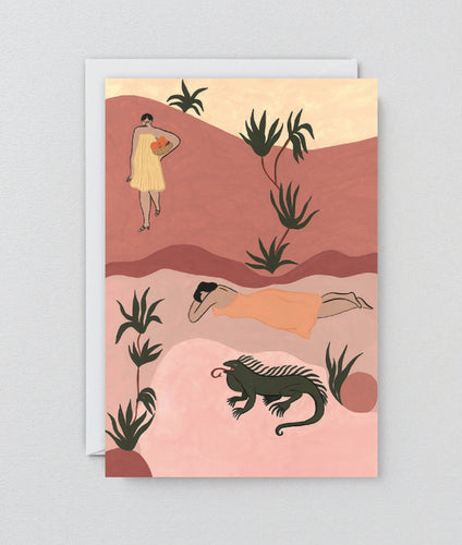 WRAP | Sisters and Iguana Art Card