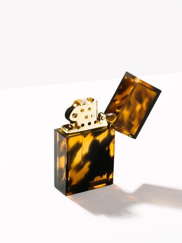 Refillable Lighter | Hard Edge Marble Tortoise