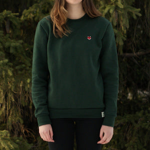 Flannel Foxes | Embroidered Fox Unisex Sweatshirt