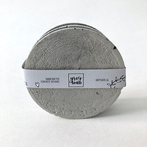 Grey Shed | Moon Concrete Coaster Set of 4 | Natural