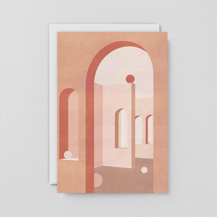 WRAP | Terracotta Arches Art Card