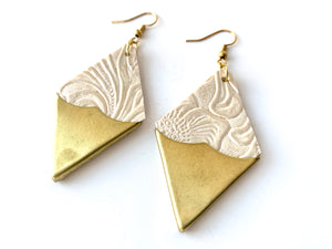 Lord Violet | Sultry Brass Tip Earrings