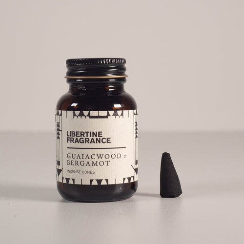 Libertine Fragrance | Incense Cones | Guaiacwood & Bergamot