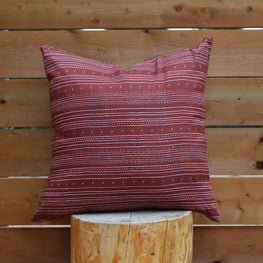 Bezhig 20x20 Pillow △ Red Earth/Grey