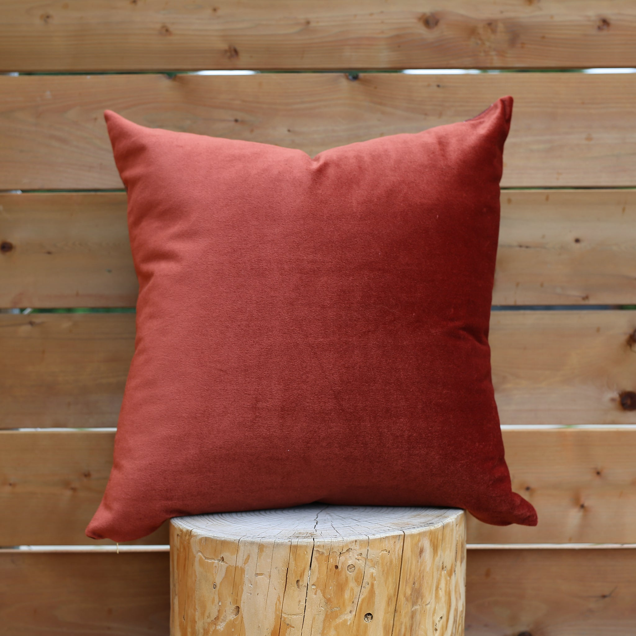 Niswi 20x20 Pillow △  Red Earth/Rust