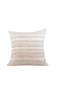 Bezhig Pillow in white/tobacco