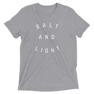 Salt + Light Unisex Tee | Gray + White