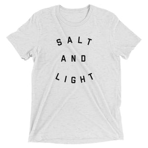 Salt + Light Unisex Tee | White Heather + Black