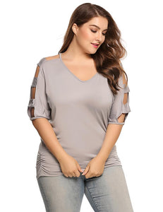 Women T-Shirt Tops Plus Size - Large Bux
