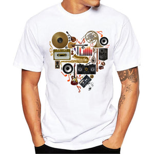 Men music instrument T-shirt - Large Bux