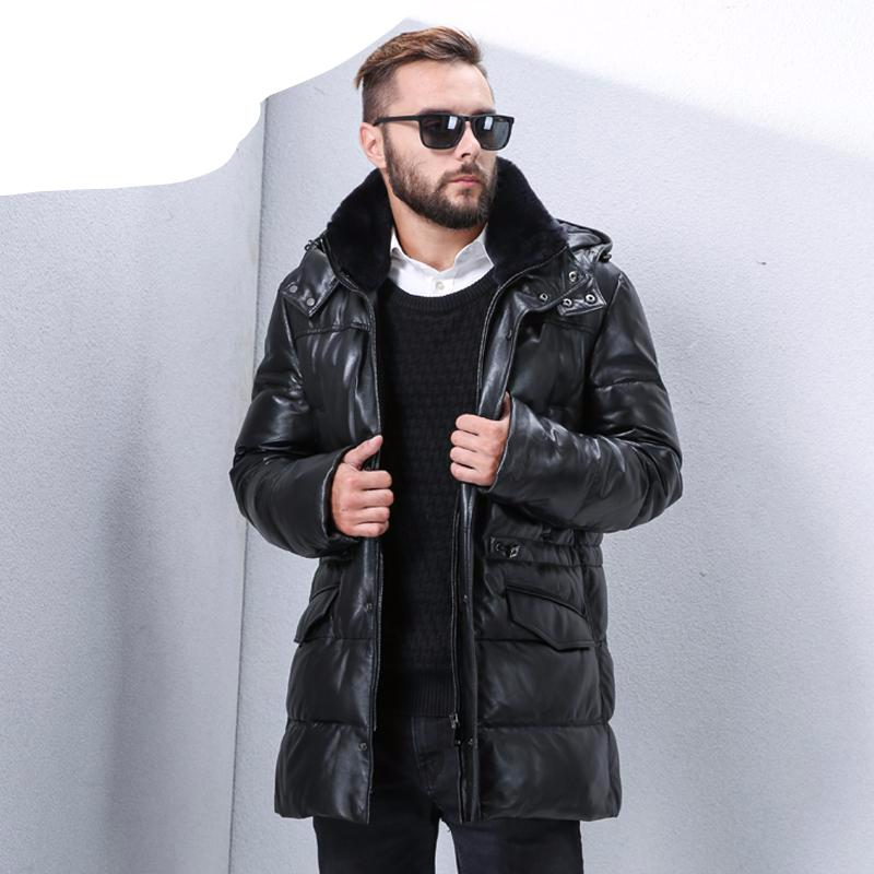 Men S New Suit Style Leather Jacket With Internal Cotton Warm