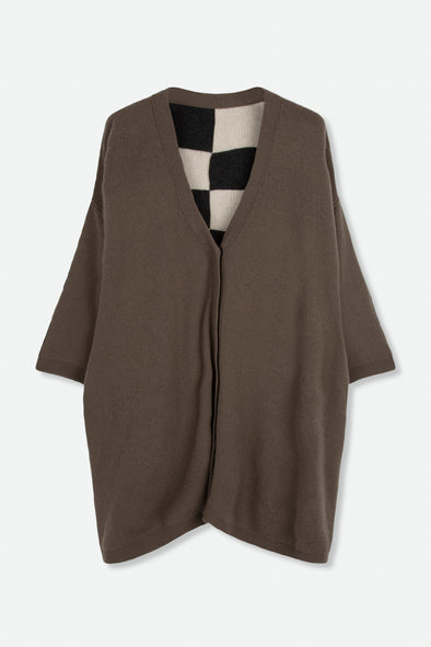BARNA REVERSIBLE CARDIGAN IN CASHMERE
