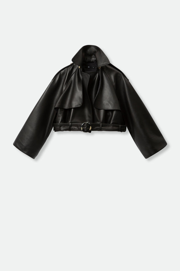 CROPPED MODO JACKET IN FRENCH LEATHER