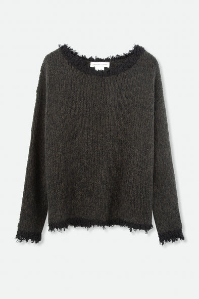 LAMBERTO LOSANI FRAY SWEATER IN CASHMERE