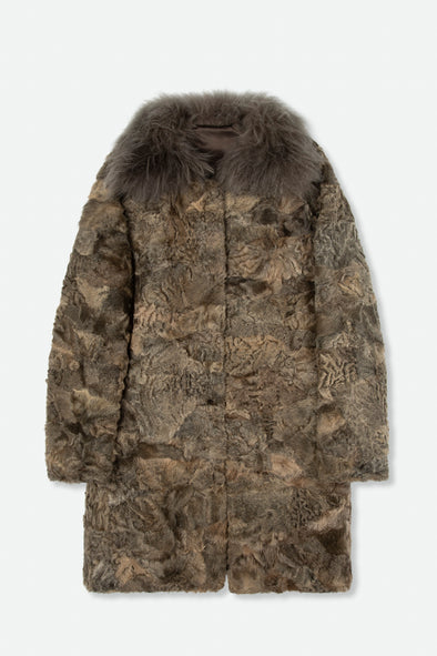 SALVATORE SANTORO OVER COAT IN SHEARLING