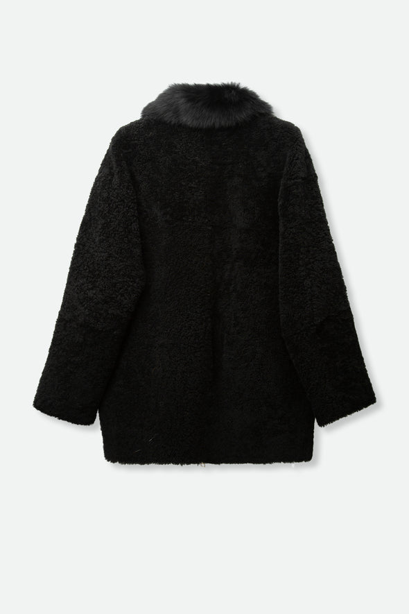 CLEA COAT IN CURLY MERINO SHEARLING