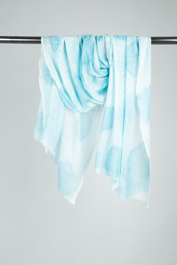 DEORIA SCARF IN HAND-DYED CASHMERE