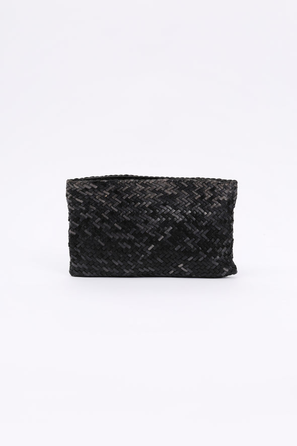 WOVEN CLUTCH IN ITALIAN LEATHER