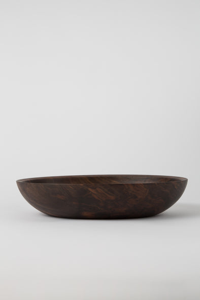HAND CRAFTED BLACK WALNUT OVAL BOWL