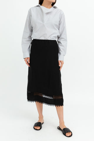 Sofie D'Hoore Sobral Midi A-Line Skirt