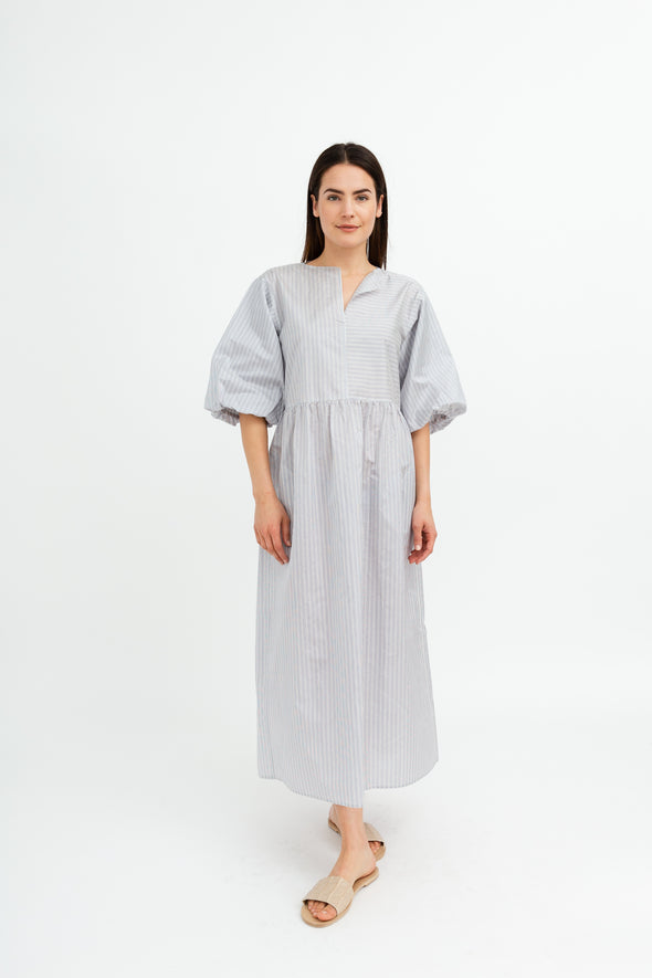 Sofie D'Hoore Demand Dress with Puff Sleeves