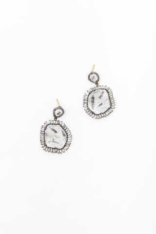 Large Cut Diamond Earring
