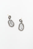 Oval Cut Diamond Earring
