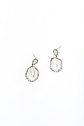 Medium Cut Diamond Earring