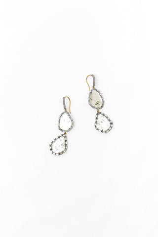 2 Cut Diamond Drop Earring