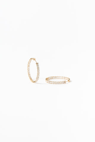 Gold Hoops w/ Diamonds