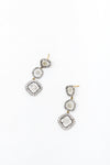 THREE CUT DIAMOND DROP EARRING