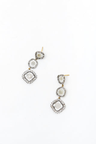 3 Cut Diamond Drop Earring