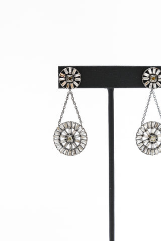 Wheel Baguette Drop Earring