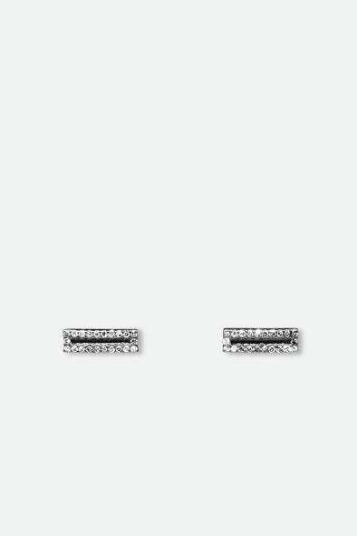 DIAMOND BAR EARRINGS BLACK