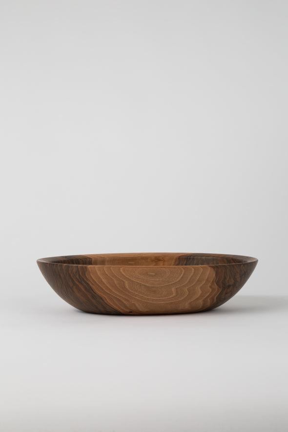 HAND CRAFTED ENGLISH WALNUT OVAL BOWL