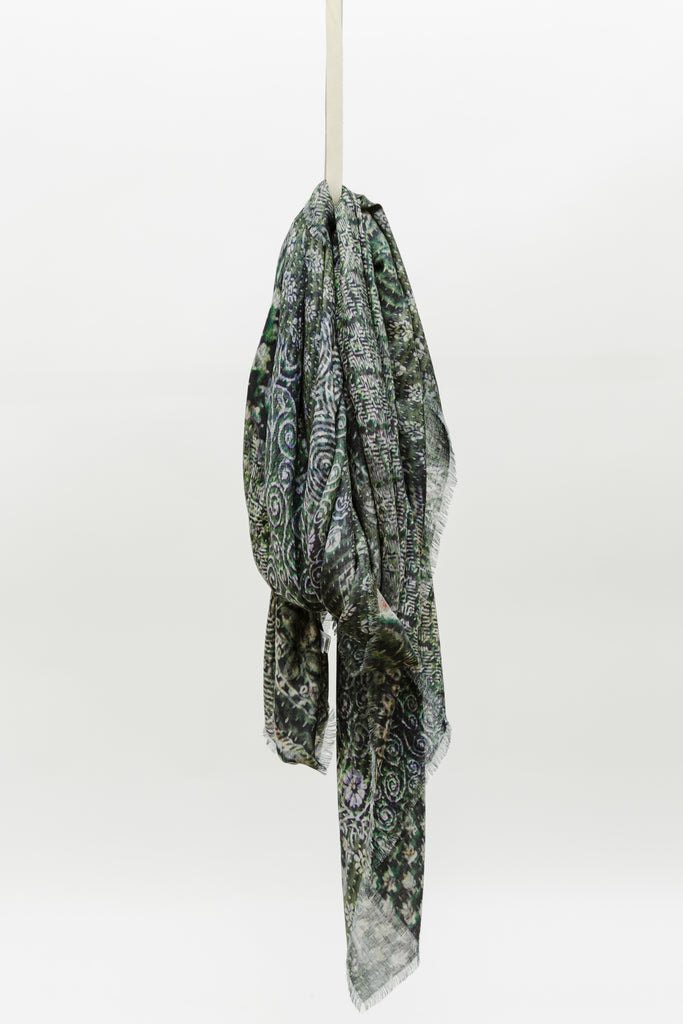 Alonpi Cashmere Gull Printed Stole