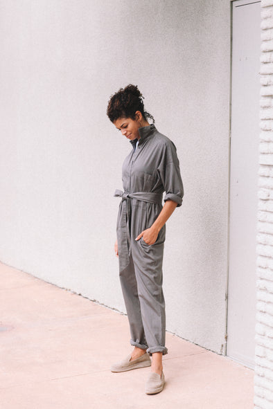 JUMPSUIT IN DYED COTTON
