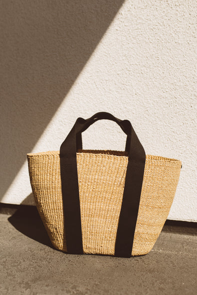 ABBY Straw Beach Tote