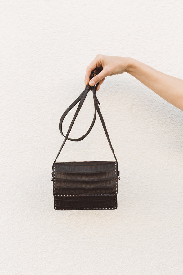 SMALL CROC CROSSBODY