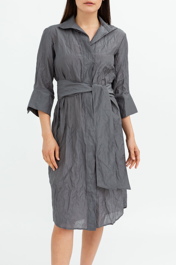 SOPHIE DRESS IN COTTON-SILK BLENDED