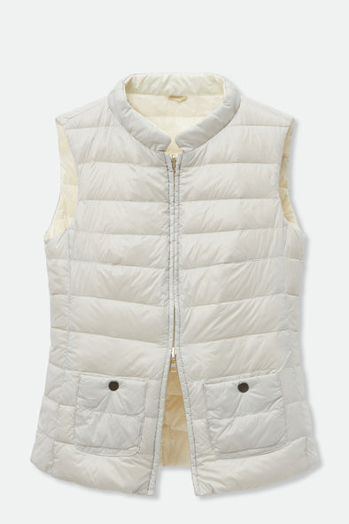 GUARDA REVERSIBLE VEST IN GOOSE DOWN