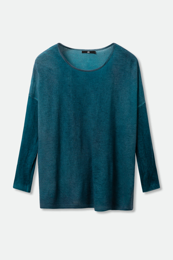 BHUTAN TOP IN HAND-DYED CASHMERE