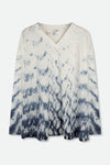 BALLA TOP IN SHIBORI-DYED SLUB COTTON